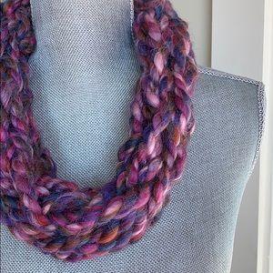 Rose Garden Handmade Arm Knit Infinity Scarf